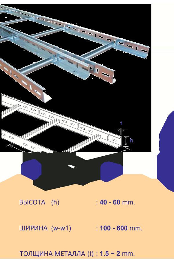 кабеленесущие системы лестничного типа h70